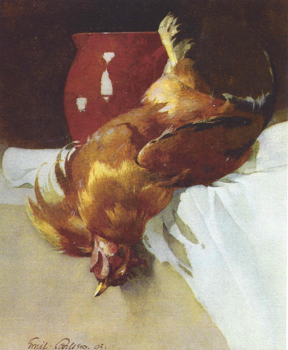 Red Jug and Chicken (also called Still life (52)), 1893