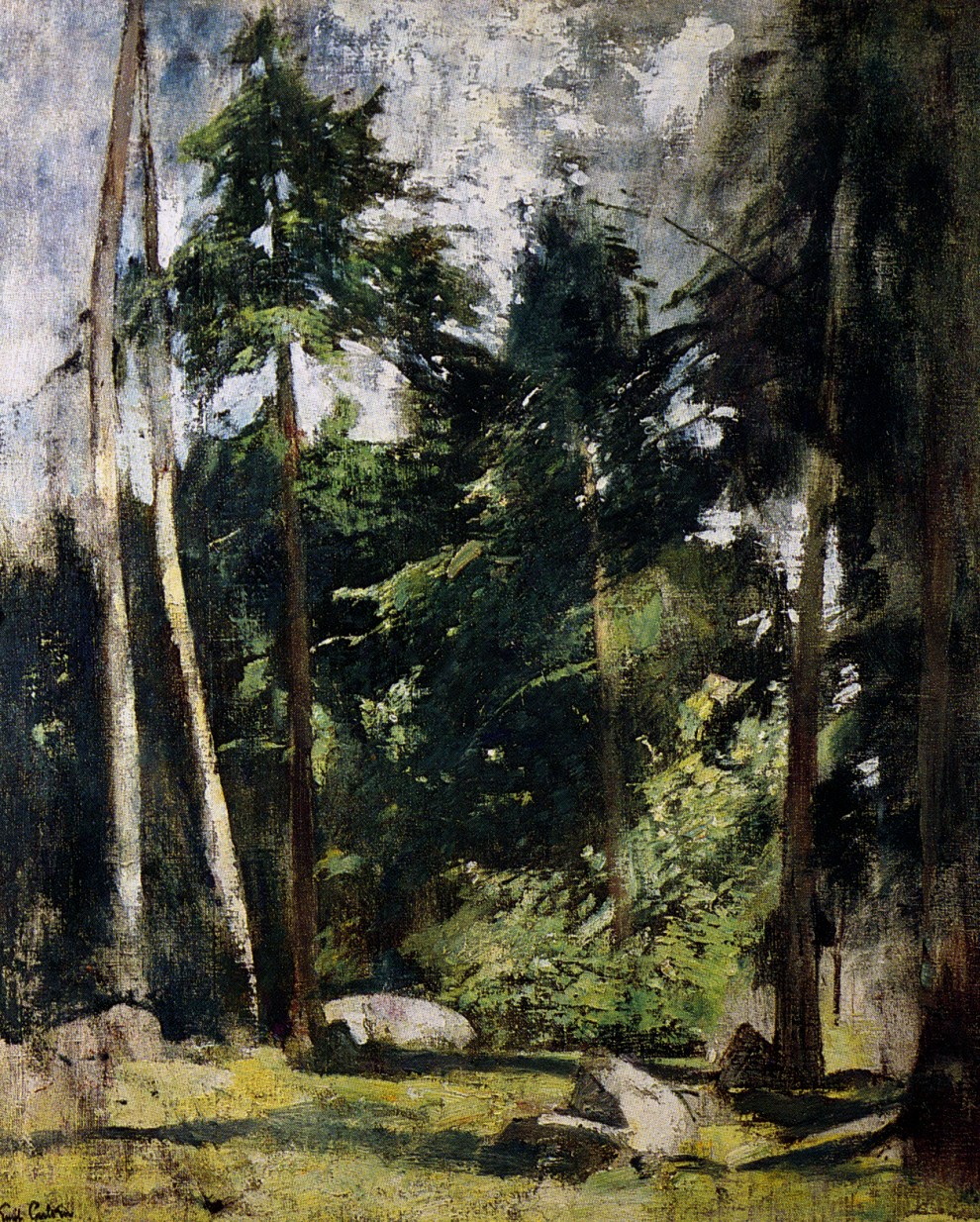 Emil Carlsen Rocks in the Forest, c.1932