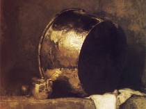 Emil Carlsen : Still life with copper pan, 1901.
