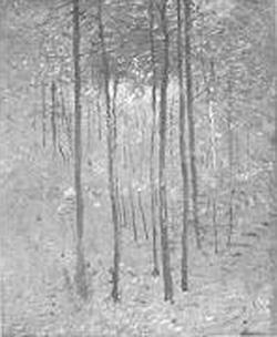 Emil Carlsen Autumn Forest Interior, c.1908