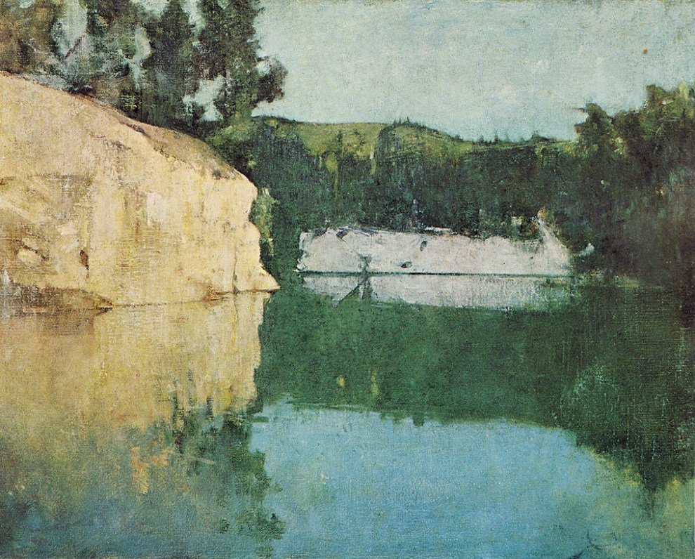Emil Carlsen : The quarry, ca.1907.