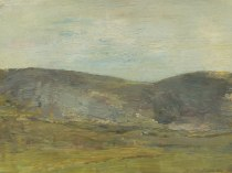 Emil Carlsen : Hills past the field, ca.1915.