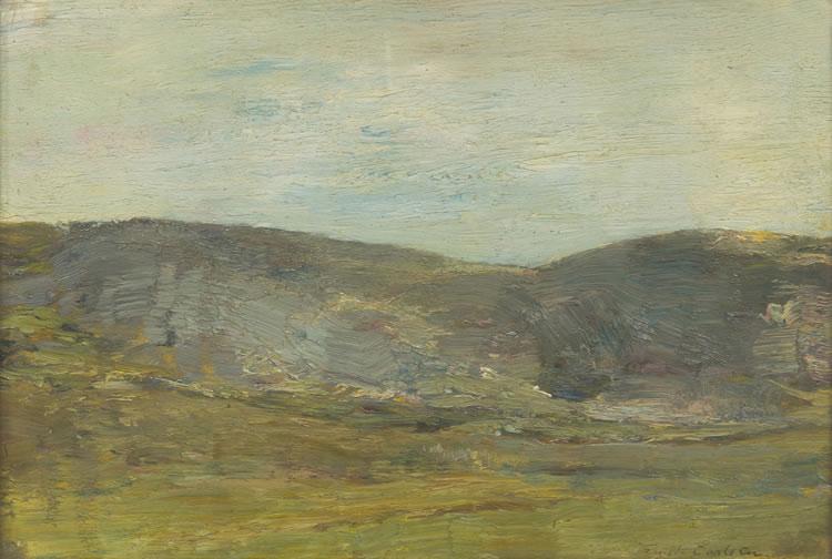 Emil Carlsen : Hills past the field, ca.1915.