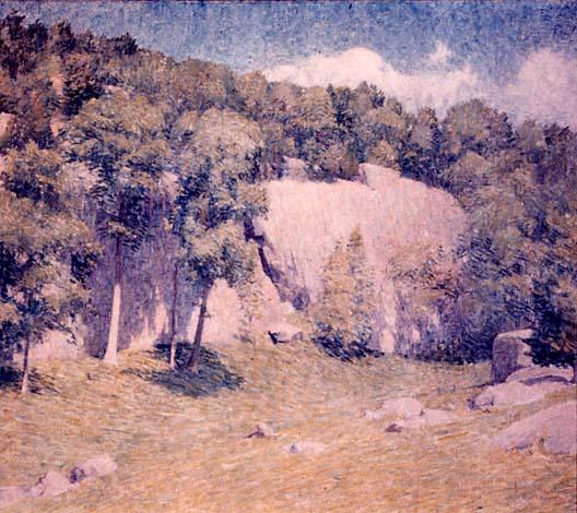 Emil Carlsen : The cliffs, ca.1917.