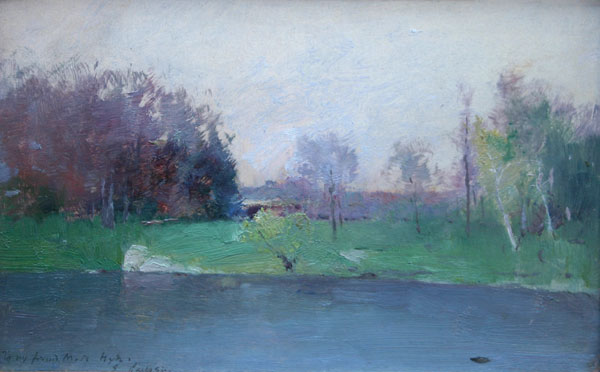 Emil Carlsen Lake Scene, 1890