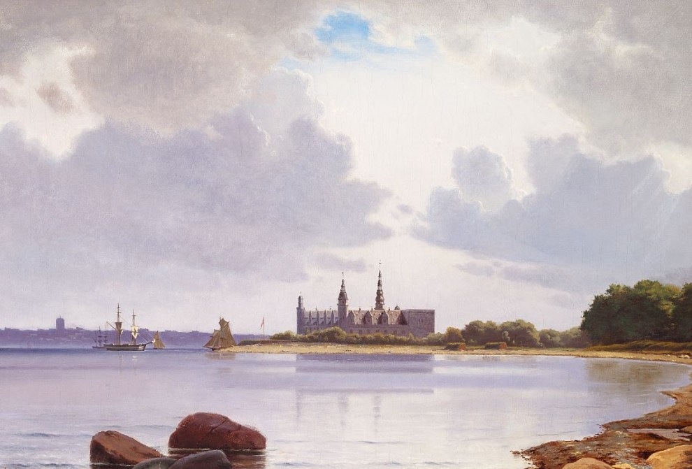 Emil Carlsen : View of Kronborg, in the background the fortification Kärnan in Helsingborg, 1871.