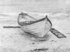 Emil Carlsen Fishing Boat On Shore, (PARIS) 1885