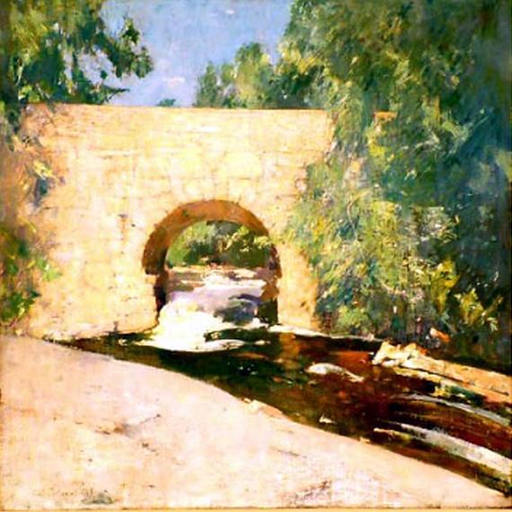 Emil Carlsen : Little bridge, 1928.