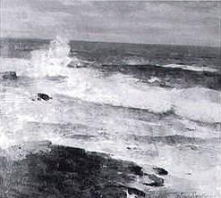 Emil Carlsen Seascape with Rocky Coastline, 1923