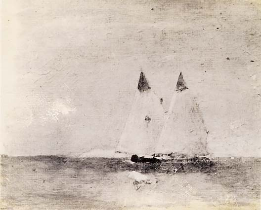 Emil Carlsen Seascape with Sail Boats, c.1917