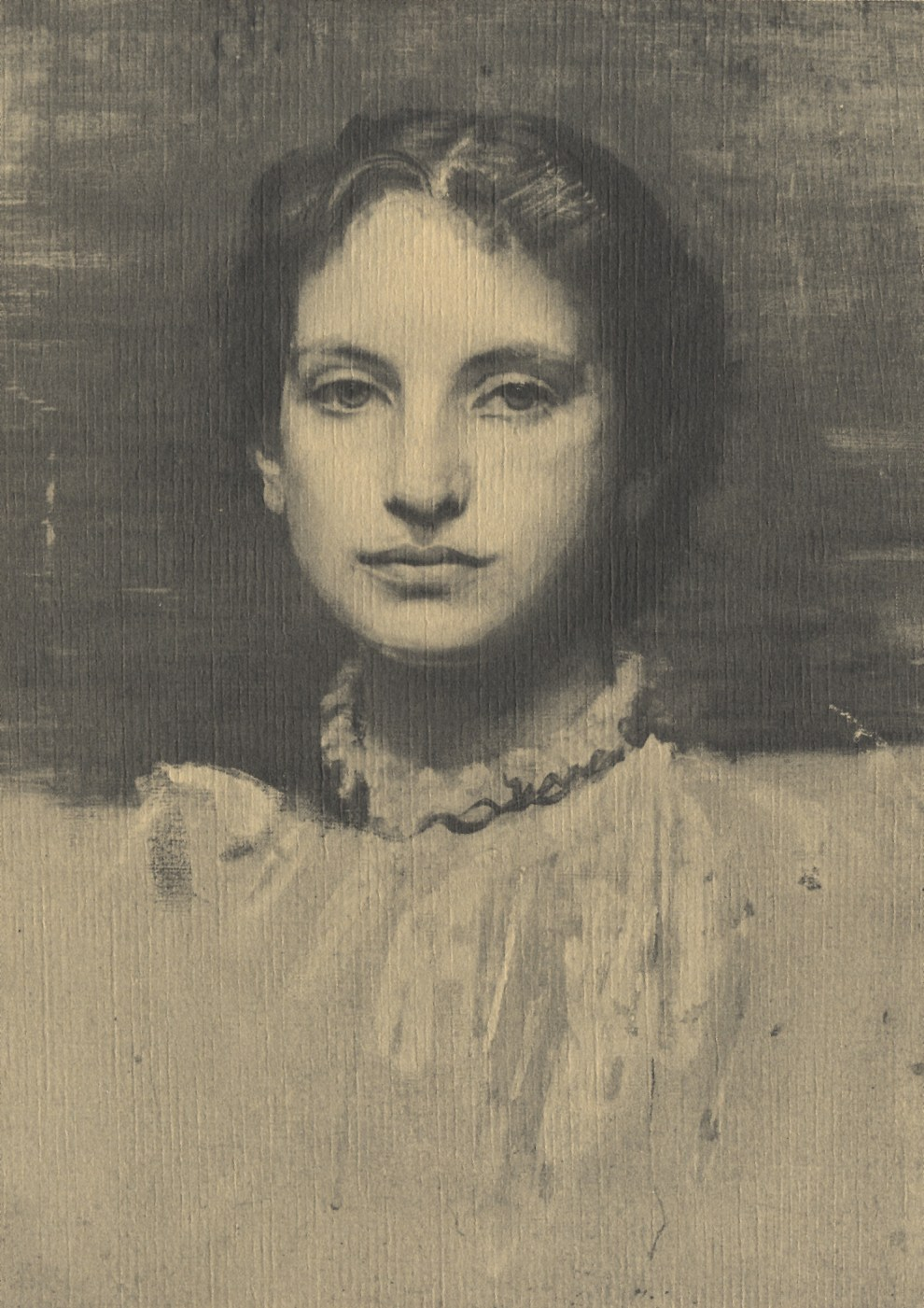 Emil Carlsen Portrait of the Artist's Wife (Luella May), c.1887