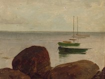 Emil Carlsen Seascape, Study with Boats, c.1887