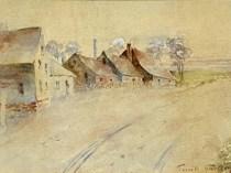 Emil Carlsen Village Scene, 1891