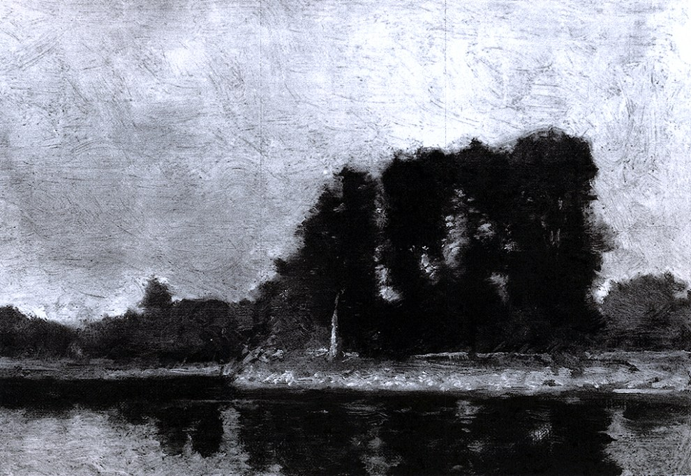Emil Carlsen Trees by the River: A Study, c.1907