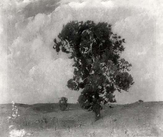 Emil Carlsen Trees in a Meadow, 1907