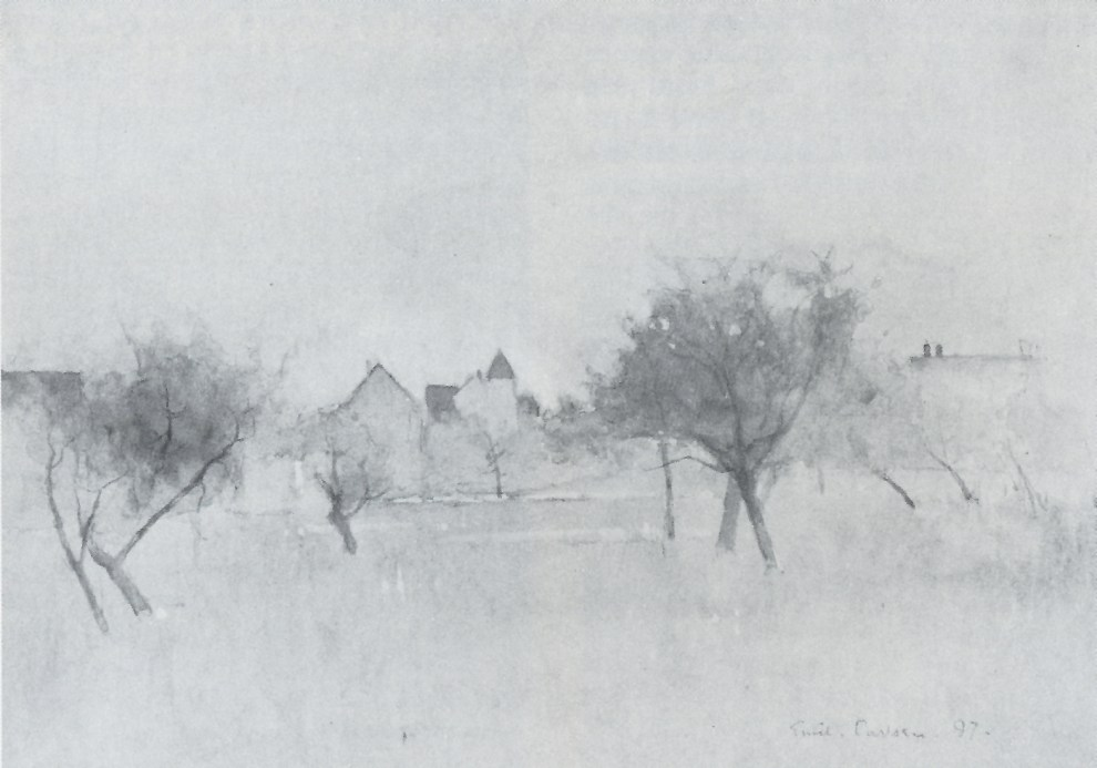 Emil Carlsen View of the Village, 1897