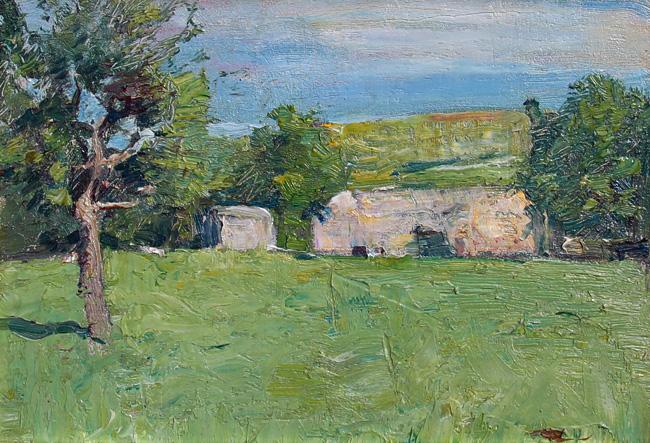 Emil Carlsen Cottage in Summer, c.1919