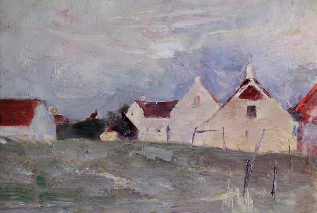 Emil Carlsen Farmhouses, c.1922