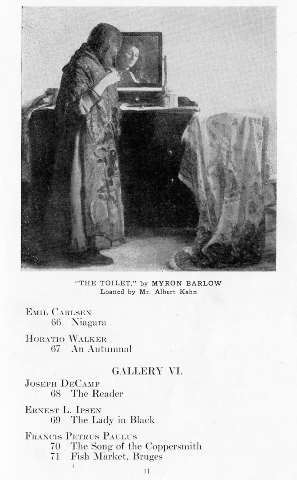 """1918 Detroit Museum of Art, Detroit, MI, """"Fourth Annual Exhibition of Selected Paintings by American Artists"""", April 9 - May 30."""