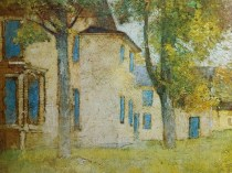 Emil Carlsen : Landscape with house, ca.1925.