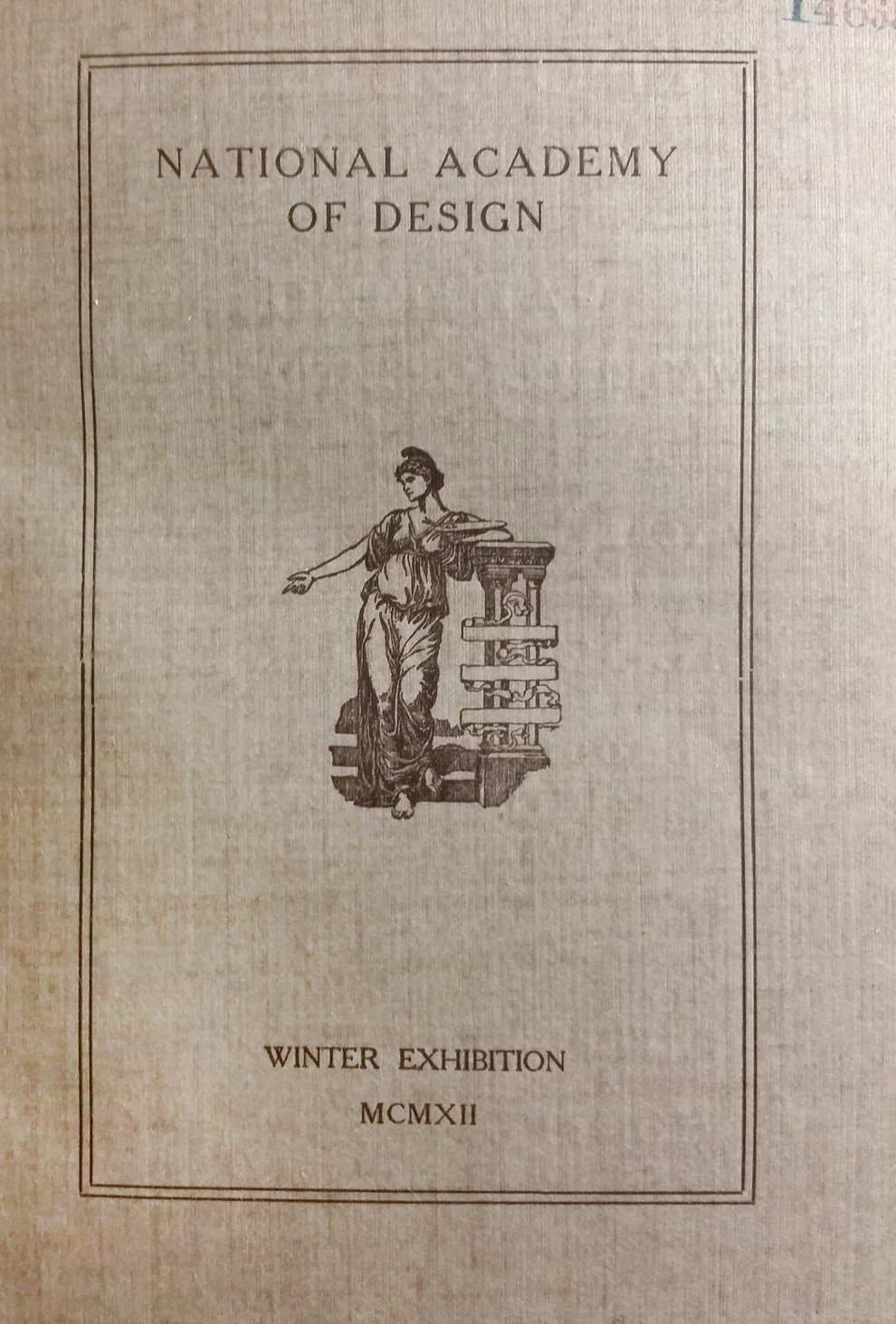 "1912 National Academy of Design, New York, NY, ""Winter Exhibition"", December 14, 1912 - January 12, 1913"