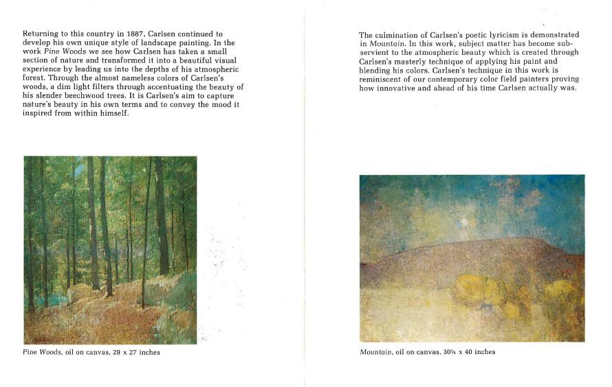 """1977 Hammer Galleries, New York, NY, """"The Art of Emil Carlsen"""", January 25 – February 19"""