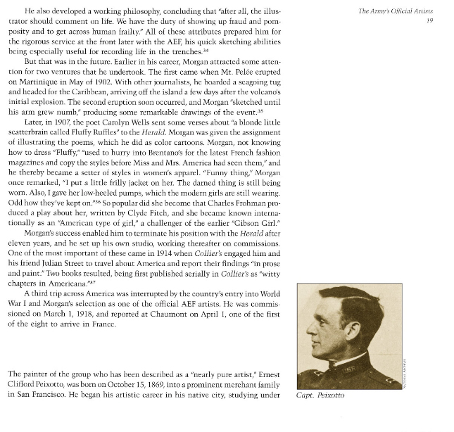 Art from the trenches : America's uniformed artists in World War I by Alfred Emile Cornebise, Texas A&M University Press, January 26, 2015, pages 19-21, not illustrated.