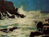 Emil Carlsen Sea and Ski, c.1930