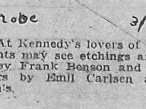"New York Globe, ""close."", March 23, 1923"