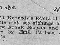 "New York Globe, ""close."", March 23, 1923"