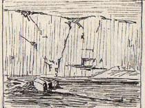 Emil Carlsen Sketch for Quarry Wall, Ogunquit, ME, c.1914