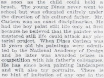 """Pittsburgh Daily Post, Pittsburgh, PA, """"Pamela Bianca and Her Adopted Ancestors"""", April 10, 1921, Page 46"""