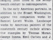 """The Brooklyn Daily Eagle, Brooklyn, NY, """"J J Campbell Collection On View"""", January 20, 1935, page 32"""