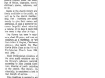 """The Charleston Daily Mail, Charleston, WV, """"First Presbyterian Church has 5,000-Volume Library"""", February 11, 1961, Page 3"""