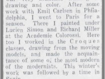 "The Gaffney Ledger, Gaffney, SC, ""Mrs. Fort Tells of Art Studies"", March 15, 1930, Page 3"