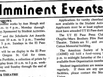 "Prospector, El Paso, TX, ""Imminent Events"", March 18, 1975, Page 1"