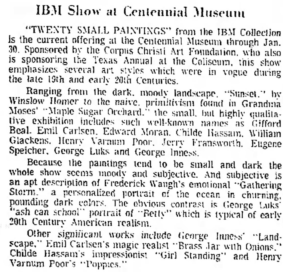 "The Corpus Christi Caller-Times, Corpus Christi, TX, ""IBM Show at Centennial Museum"", January 12, 1964, Page 44"
