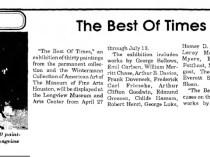 """The Paris News, Paris, TX, """"The Best of Times Exhibit"""", April 25 1991, Page 28"""
