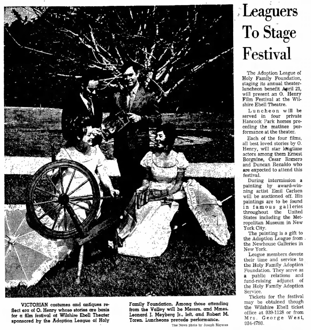 "Valley News, Van Nuys, CA, ""Leaguers To Stage Festival"", April 4, 1971, Page 41"