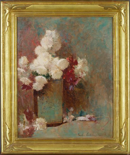 Emil Carlsen Chrysanthemums in Vase, 1891