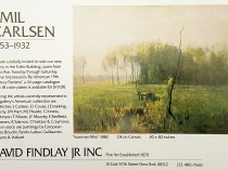 """Emil Carlsen Ad for David Findlay, Jr. Inc., unknown magazine, illustrated: color, 1982"""