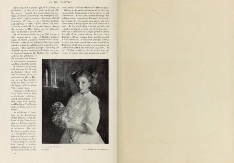 """International Studio, New York, NY, """"In The Studio"""", 1910, volume 40, March-June, Numbers 157-160, page 1-1.2, not illustrated"""