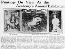 "El Paso Herald, El Paso, TX, Paintings On View At the Academy's Annual Exhibition"", Friday, March 22, 1907, page 6, not illustrated"