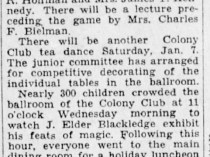 "Detroit Free Press, Detroit, MI, ""New Art Showing Planned by Club"", Sunday, January 1, 1933, page 19, not illustrated"