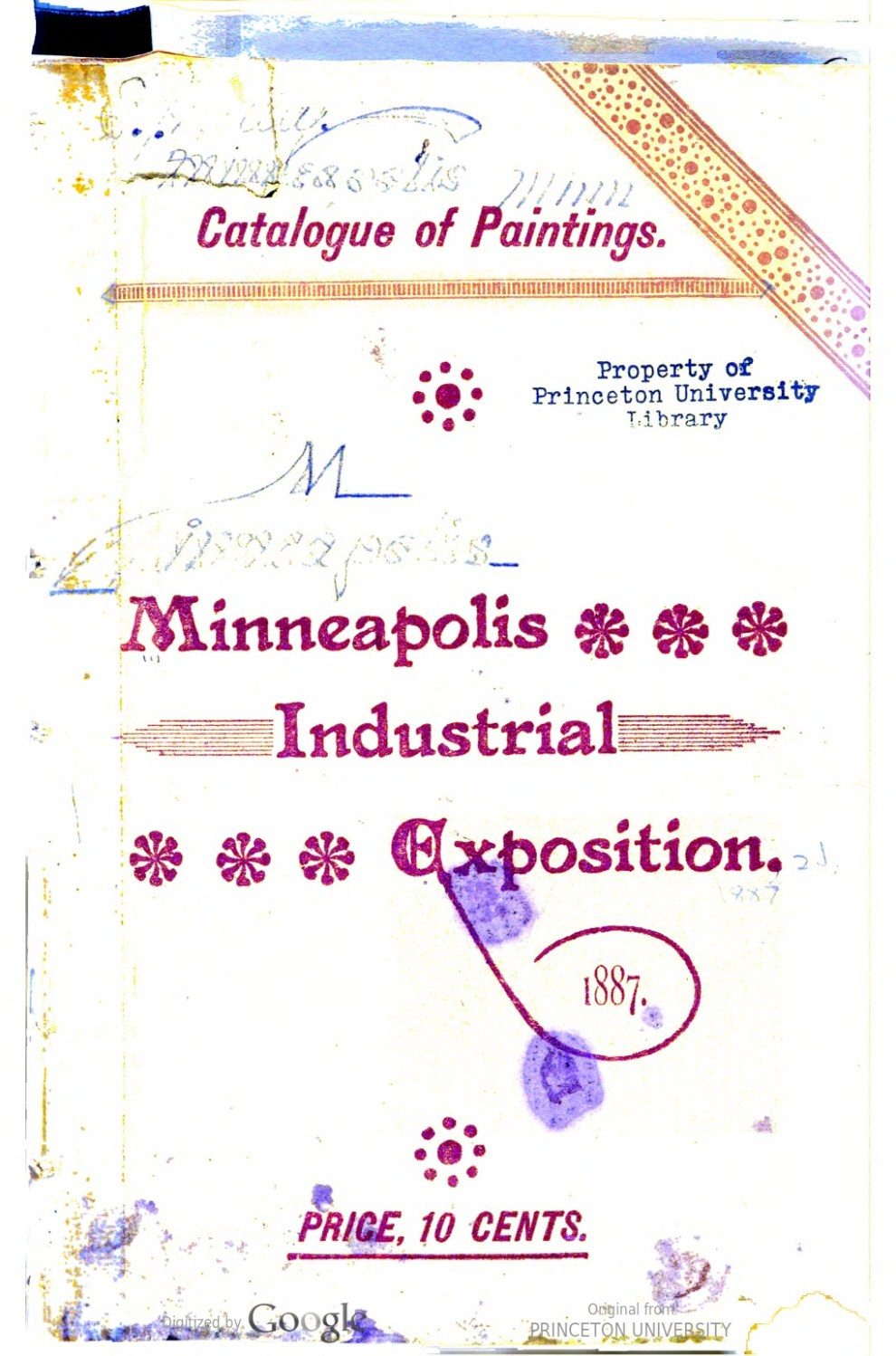 "1887 Minneapolis Industrial Exposition, Minneapolis, MN, ""Industrial Exposition"", x-x?"