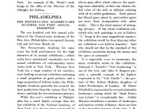"""Academy Notes, Buffalo Fine Arts Academy, Albright Art Gallery, Buffalo, NY, """"Philadelphia The Pennsylvania Academy's One Hundred and First Annual Exhibition"""", March, 1906, Volume 1, Number 10, page 170-171, not illustrated"""