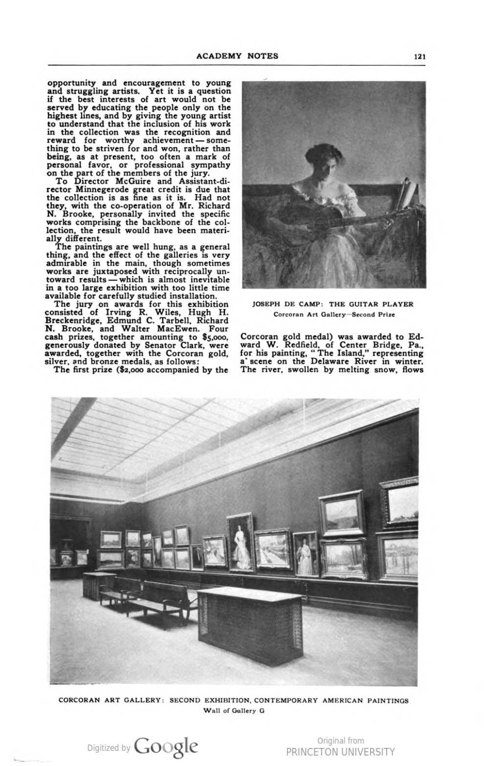 """Academy Notes, Buffalo Fine Arts Academy, Albright Art Gallery, Buffalo, NY, """"Art Museum Notes"""", January, 1909, Volume 4, Number 8, page 120-124, not illustrated"""