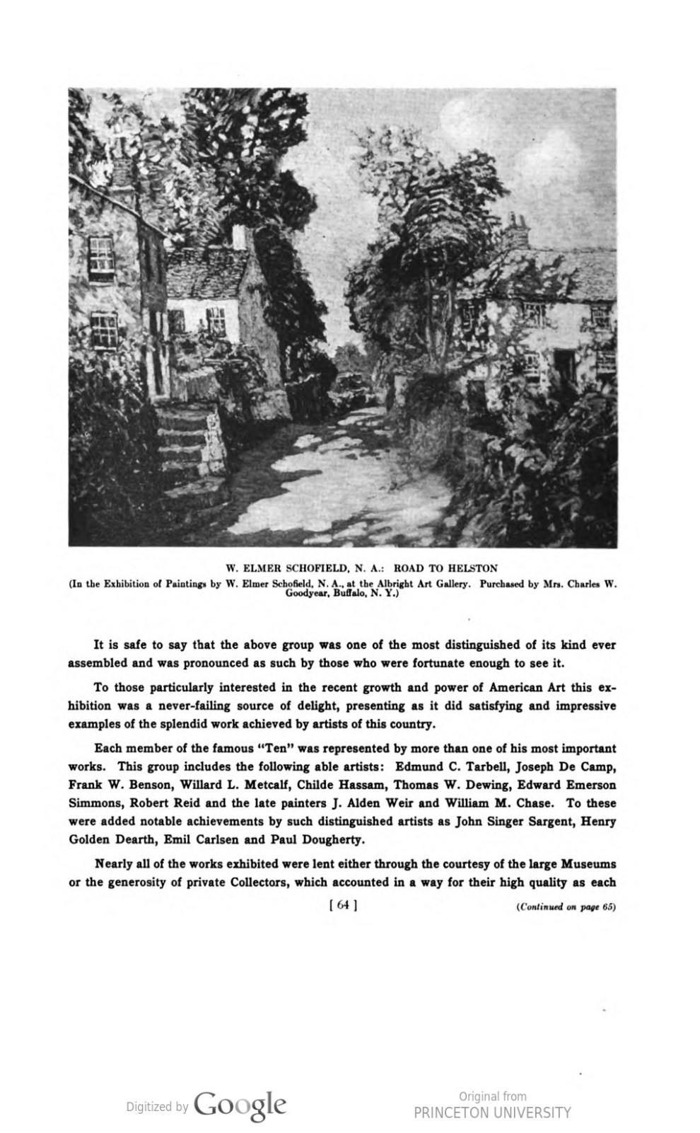 """Academy Notes, Buffalo Fine Arts Academy, Albright Art Gallery, Buffalo, NY, """"Exhibition of Works by the American Painters, Sculptors and Engravers"""", July - December, 1920, Volume 15, Number 2, page 63-68, not illustrated"""