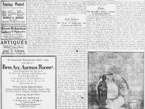 """New-York Tribune, New York, NY, """"Old Works by Jongkind And New Ones by Carlsen"""", Sunday, February 13, 1921, page 7, illustrated: b&w on page 7"""