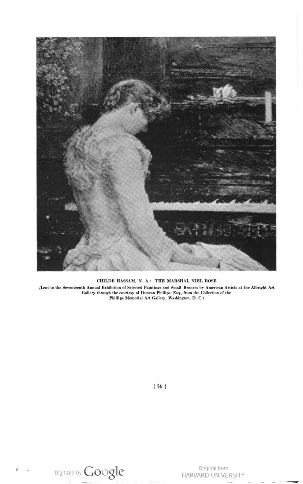 """Academy Notes, Buffalo Fine Arts Academy, Albright Art Gallery, Buffalo, NY, """"The Seventeenth Annual Exhibition of Selected Paintings and Small Bronzes by American Artists at the Albright Art Gallery"""", July - December, 1923, Volume 18, Number 2, page 42-58, not illustrated."""